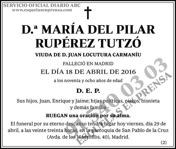 María del Pilar Rupérez Tutzó